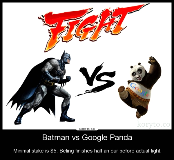Batman vs Google Panda